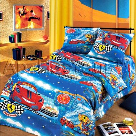 «Ралли» 1,5 - спальное постельное белье, Бязь, Арт Дизайн