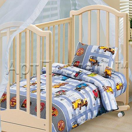 «Ретро» дет. кроватка постельное белье, Бязь, Арт Дизайн