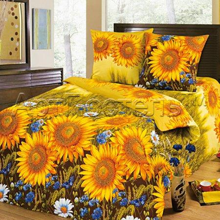 «Солнышко» ЕВРО постельное белье, Бязь, Арт Дизайн