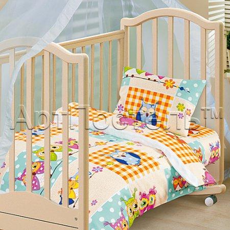 «Соня» дет. кроватка на резинке постельное белье, Бязь, Арт Дизайн