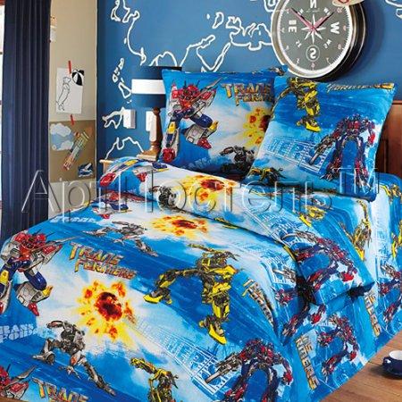 «Трансформеры» 1,5 - спальное постельное белье, Бязь, Арт Дизайн