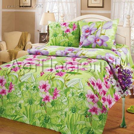 Постельное белье «Тропики» 1,5 - спальное, Бязь, Арт Дизайн