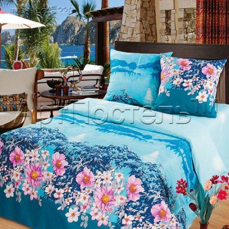 «Утренний пейзаж» двуспальное постельное белье, Бязь, Арт Дизайн