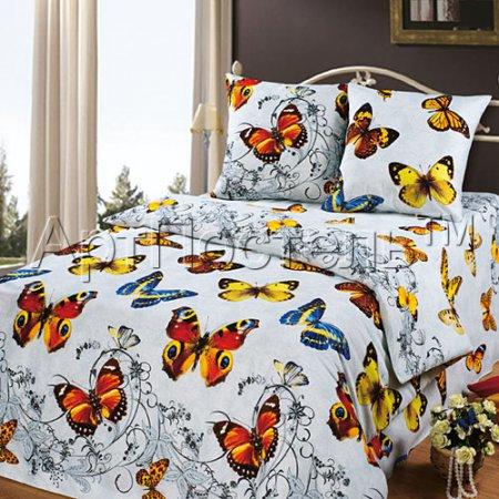 Постельное белье «Ванесса» двуспальное с европростыней, Бязь, Арт Дизайн
