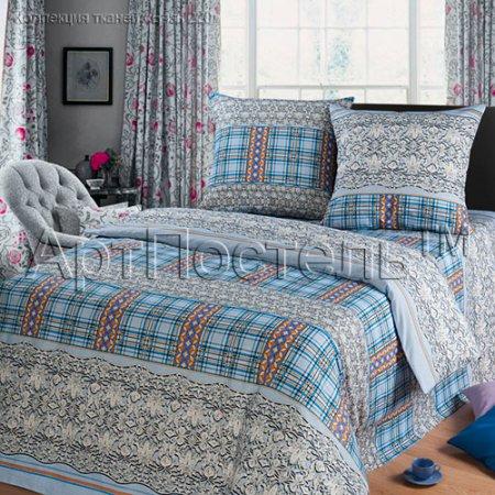 Постельное белье «Венецианское кружево (голубой)» двуспальное, Бязь, Арт Дизайн