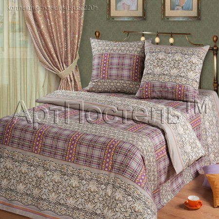 Постельное белье «Венецианское кружево (розовый)» двуспальное с европростыней, Бязь, Арт Дизайн