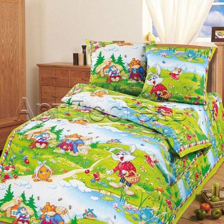 «В гостях у сказки» 1,5 - спальное постельное белье, Бязь, Арт Дизайн