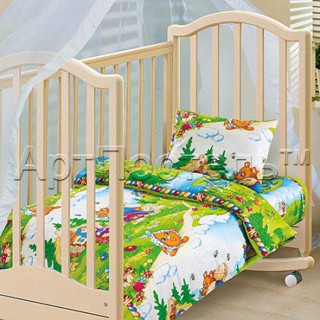 «В гостях у сказки» дет. кроватка постельное белье, Бязь, Арт Дизайн