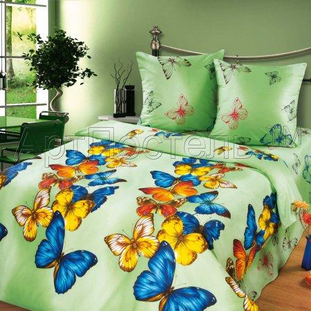 «Виолетта» двуспальное с европростыней постельное белье, Бязь, Арт Дизайн