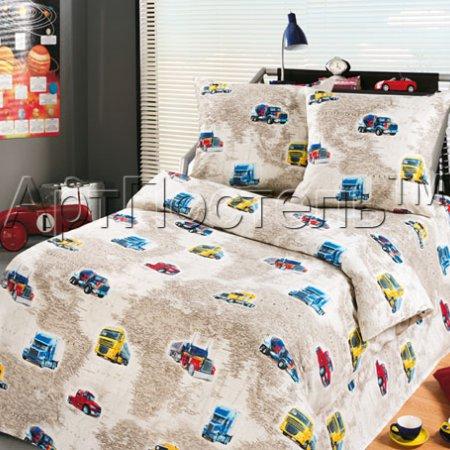 «Вокруг света» 1,5 - спальное постельное белье, Бязь, Арт Дизайн