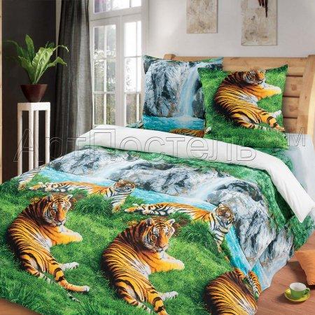 «Волшебная долина» двуспальное с европростыней постельное белье, Бязь, Арт Дизайн