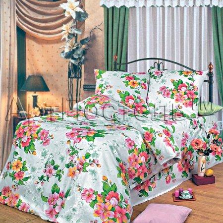 «Яблоневый цвет» 1,5 - спальное постельное белье, Бязь, Арт Дизайн