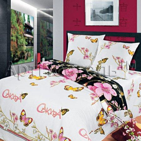 «Япония» двуспальное с европростыней постельное белье, Бязь, Арт Дизайн
