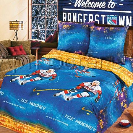 «Звезды хоккея» 1,5 - спальное постельное белье, Бязь, Арт Дизайн
