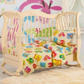 «Алфавит» дет. кроватка постельное белье, БЯЗЬ, Арт Дизайн