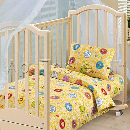 «Детский гороскоп» дет. кроватка постельное белье, Бязь, Арт Дизайн