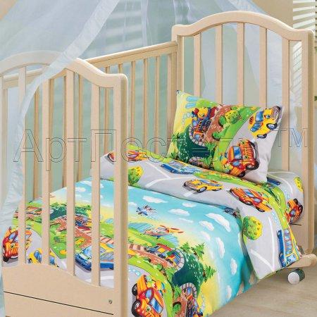 «Детский парк» дет. кроватка постельное белье, Бязь, Арт Дизайн