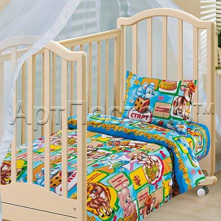 «Игра» дет. кроватка постельное белье, Бязь, Арт Дизайн