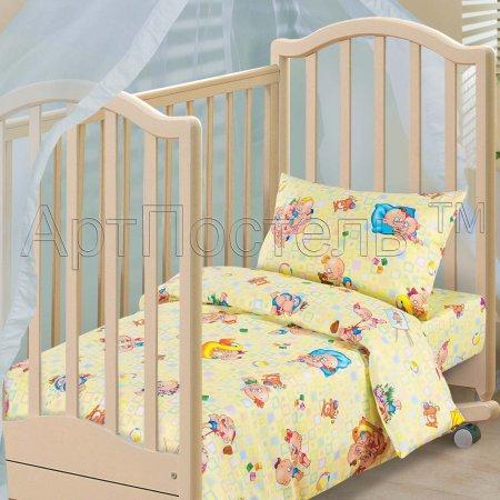 «Лапушки» дет. кроватка постельное белье, Бязь, Арт Дизайн