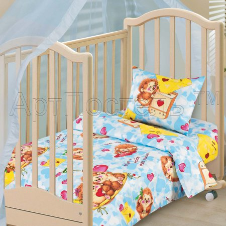 «Милашки» дет. кроватка постельное белье, Бязь, Арт Дизайн