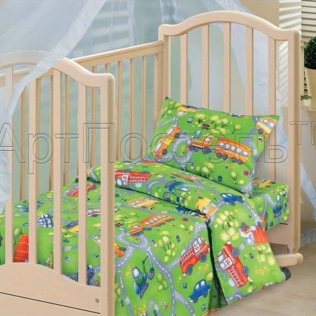 «Светофор» дет. кроватка постельное белье, Бязь, Арт Дизайн