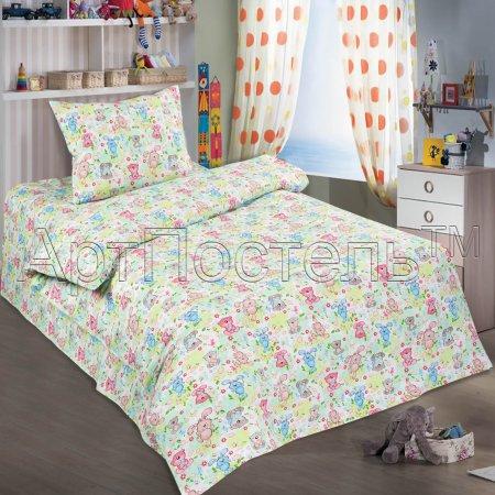 «Ушастики» дет. кроватка постельное белье, Поплин, Арт Дизайн