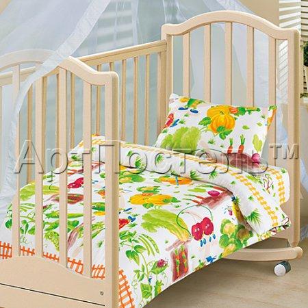 «Веселый огород» дет. кроватка постельное белье, Бязь, Арт Дизайн