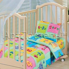 «Забавный счет (зеленый)» дет. кроватка постельное белье, БЯЗЬ, Арт Дизайн