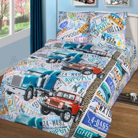 «Автобан» 1,5 - спальное постельное белье, Бязь, Арт Дизайн