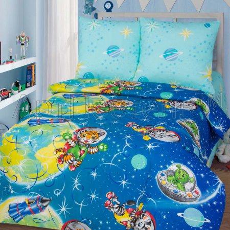 «Космошарики» 1,5 - спальное постельное белье, Бязь, Арт Дизайн