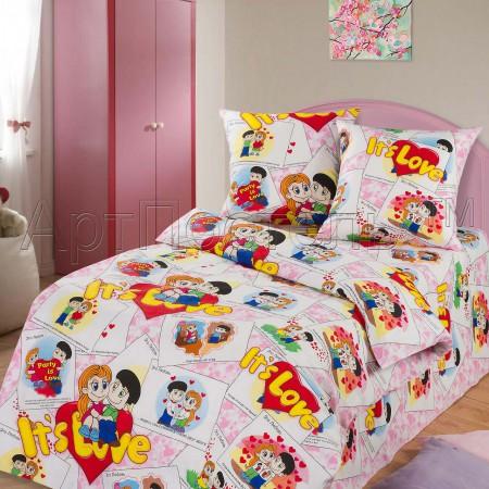 «Очаровашки» 1,5 - спальное постельное белье, Бязь, Арт Дизайн