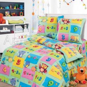 «Забавный счет зеленый» 1,5 - спальное постельное белье, БЯЗЬ, Арт Дизайн