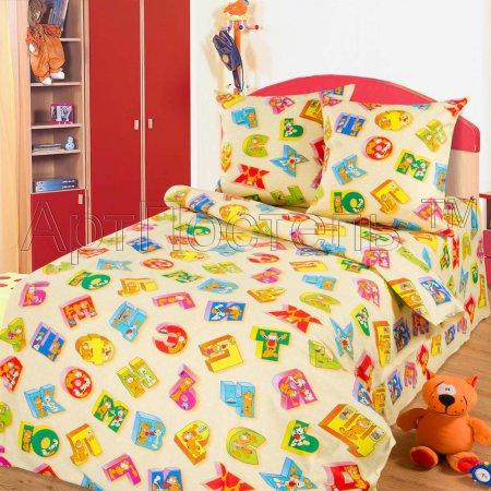 «Алфавит» 1,5 - спальное постельное белье, Бязь, Арт Дизайн