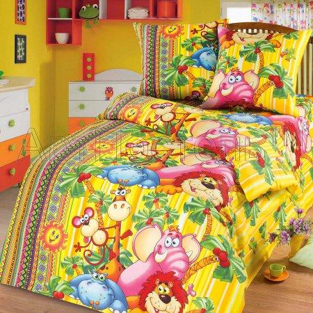 «Оранжевое солнце» 1,5 - спальное постельное белье, Бязь, Арт Дизайн