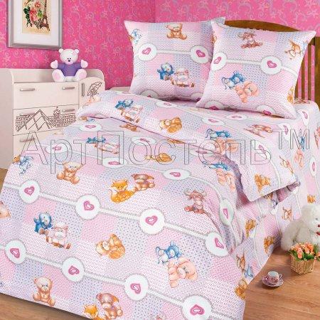«Пуговка» 1,5 - спальное постельное белье, Бязь, Арт Дизайн