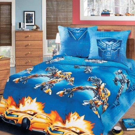 «Робот-воин» 1,5 - спальное постельное белье, Бязь, Арт Дизайн