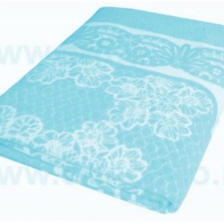 Одеяло байковое бирюза «Ермолино» 150х215 всесезонное, АльВиТек
