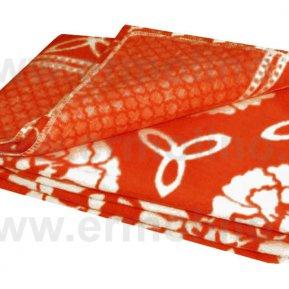 Одеяло байковое жаккард красное «Ермолино» 100*140 всесезонное, АльВиТек