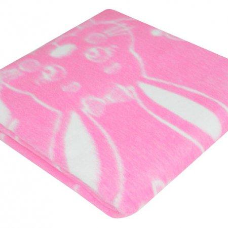 Одеяло байковое жаккард роз. «Ермолино» 100х140 всесезонное, АльВиТек