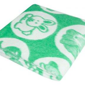 Одеяло байковое жаккард зел. «Ермолино» 100*140 всесезонное, АльВиТек
