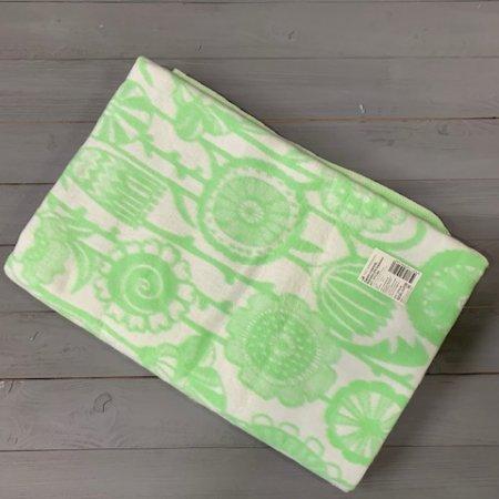 Одеяло байковое Зеленое «Цветы» 150*215 всесезонное, АльВиТек