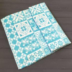 Одеяло байковое жаккард льдистый Ажур «Ермолино» 150*215 всесезонное, АльВиТек