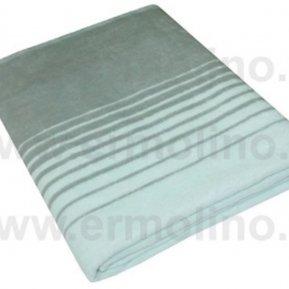 Одеяло байковое жаккард серо-гол. Мегаполис «Ермолино» 150*215 всесезонное, АльВиТек