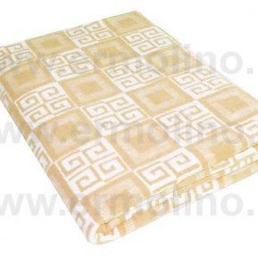 Одеяло байковое жаккард беж. «Ермолино» 150*215 всесезонное, АльВиТек