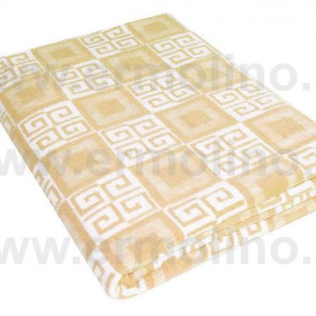 Одеяло байковое жаккард беж. «Ермолино» 150х215 всесезонное, АльВиТек
