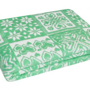 Одеяло байковое зел. «Ермолино» 150*215 всесезонное, АльВиТек