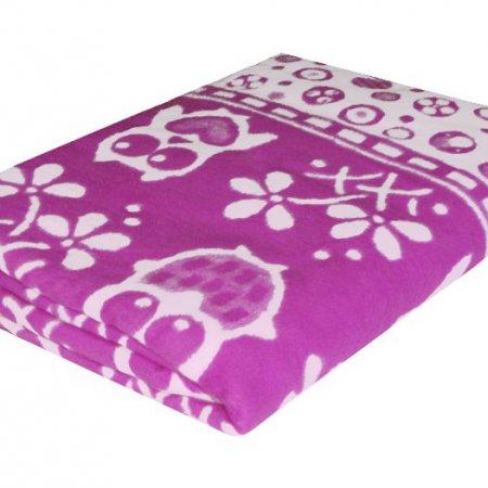 Одеяло байковое жаккард Сирень «Ермолино» 150х215 всесезонное, АльВиТек