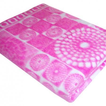 Одеяло байковое роз. «Ермолино» 150х215 всесезонное, АльВиТек