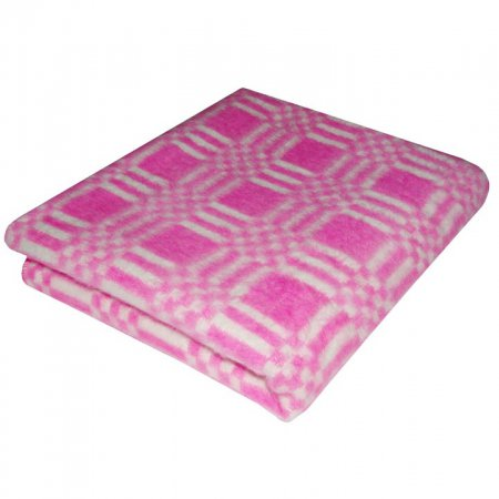 Одеяло байковое роз. «Ермолино» 140х205 всесезонное, АльВиТек