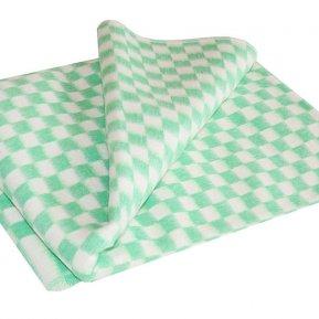 Одеяло байковое зел. «Ермолино» 140*205 всесезонное, АльВиТек